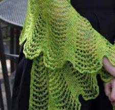 Scalloped, lacy shawl