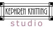Craftsman-style frame with the words Kephren Knitting written inside