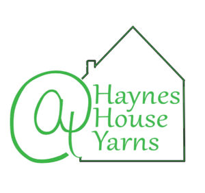 Illustration of a large at sign next to a line drawing of a house with Haynes House written inside