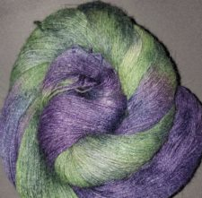Two-color yarn in colors of The Riddler's costume.