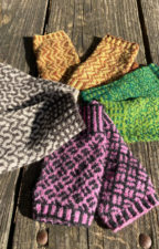 Collection of colorwork fingerless mitts.