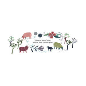 Logo is farm animals and plants in a wreath