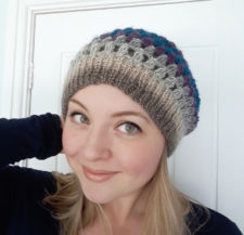 Soft crocheted slouch hat