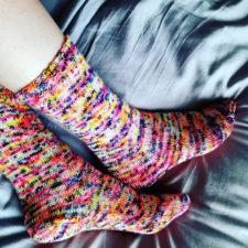 Simple knitted socks