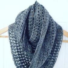 Open crochet cowl