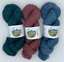 Twisted skeins in semisolid colors