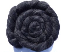 Dark semisolid top in coiled braid