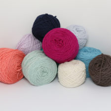 Jumble of solid color cakes