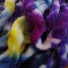 Roving pre-drafts in bright colors