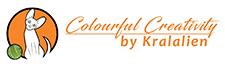 Colourful Creativity logo with cartoon of Sphynx breeed cat and yarn ball