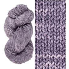 Dusty hued tonal yarn, skein and swatch