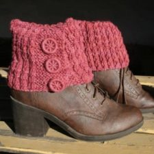 Foldover boot cuffs with three Dorset buttons.