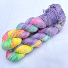 Pastel rainbow yarn.