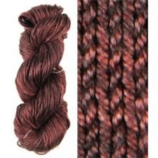 Tonal yarn with subtle variations, skein and swatch