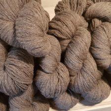 Pile of medium shade lace skeins