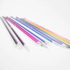 Multicolor aluminum straight knitting needles