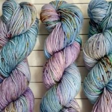 Soft spring colors in variegated yarn.