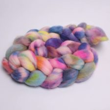 Roving braid in bright colors.