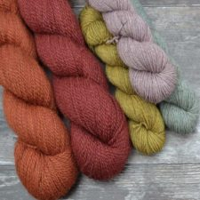Semisolid skeins in varying sizes and shades.