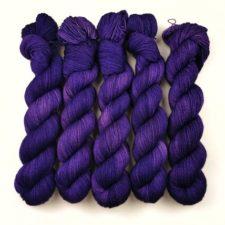 Tonal yarn in a bright, deep tone.