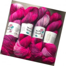 Deep pink tonal yarn