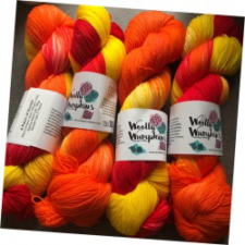 Brightest sunset colors in variegated yarn.