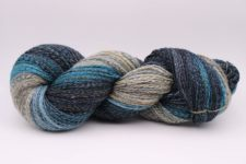 Variegated skein in dusty, cool colors