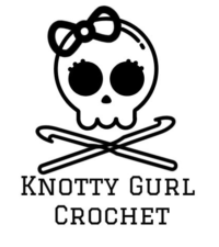 Cute skull and crossbones image with crochet hooks as the bones.